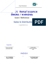 SAP SD Errors, Warnings & Resolutions