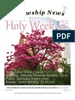 April 8, 2014 Fellowship News