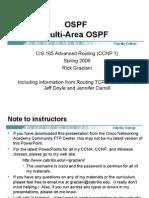 Cis185 Lecture OSPF MultiArea