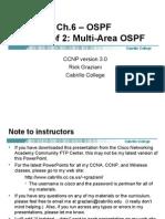 Cis185 Mod6 OSPF MultiArea