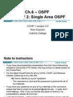 Cis185 Mod6 OSPF SingleArea