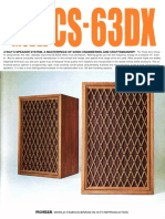 Hfe Pioneer Cs-63dx Brochure
