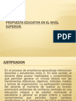 Propuesta Educativa en El Nivel Superior