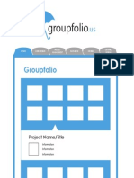 Groupfolio Website Wireframes