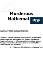 Lecture 0 Murderous Mathematics