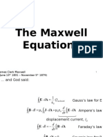 Lecture 1 the Maxwell Equations