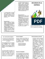 Recursos Materiales   folleto