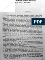 Cocis S. - Ateliere de Bronzuri in Dacia Preromana(Sargetia,XVI-XVII,1982-1983)
