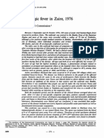 Ebola haemorrhagic fever in Zaire, 1976