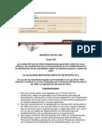 Decreto 325 de 1992