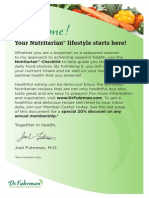 Dr Fuhrmans Nutritarian Checklist and Recipes