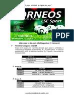 "Calendario y Horarios ""ITorneo LSE Sport"" Memorial Alvarilli."
