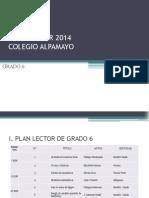 plan lector 2014- grado 6