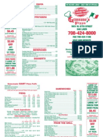 Grassano's Pizza Menu