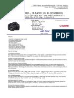 Canon EOS 1100D eBook