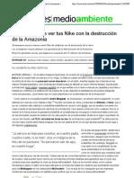 Qué tienen que ver tus Nike con la destrucción de la Amazonia | soitu.es
