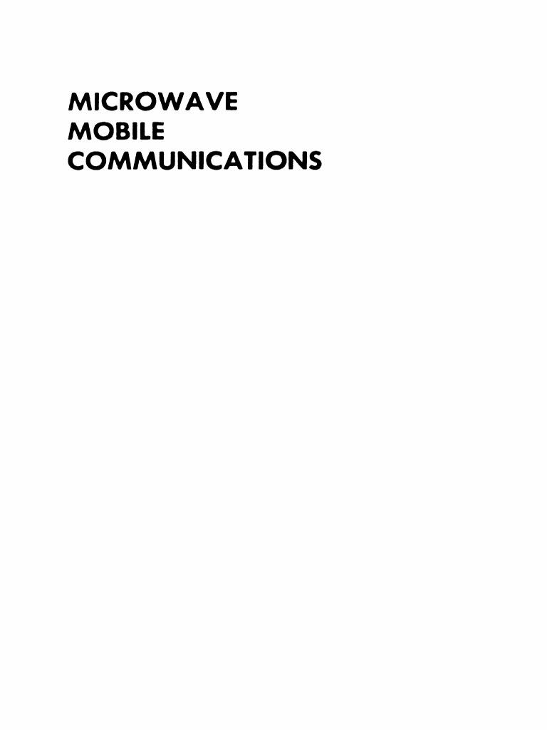 Microwave Mobile Communications   Waves   Antenna Radio