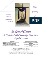 St. Rita Parish Bulletin 4/6/2014