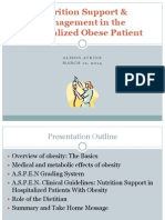 nutrition support and management in the hospitalized obese patient pdf