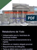 Disfunciones Tiroideas Medicina III