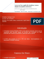 Apresentação patologia_trombose