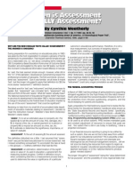 Weatherly When is Assessmentpdf