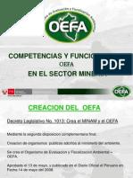 Competencias y Funciones Del Oefa en Mineria