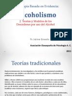 Psicoterapia Basada en Evidencia Alcoholismo Teorias Modelos