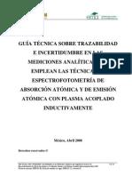 Trazabilidad e Inceretidumbre en AAS Y ICP