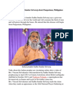 Prophecy of Sadhu Sundar Selvaraj About Pangasinan