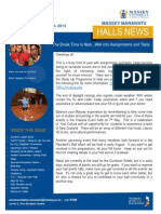 Massey Manawatu Halls of Residence Newsletter Issue Two 2014