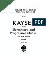 Kayser+36+Estudos+Op.20+-+Violino