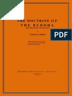 Grimm, George - Doctrine of the Buddha (564p)