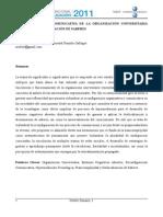 RECONFIGURACIÓN COMUNICATIVA DE LA ORGANIZACIÓN UNIVERSITARIA DESDE LA DESLOCALIZACION DE LOS SABERES