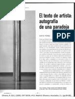 el texto de artista_David Pérez