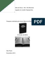 A divisão da Biblia