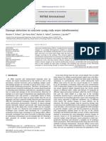 Damage Detection in Concrete Using Coda Wave Interferometry 2011 Schurr