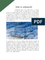 La Nube en computación