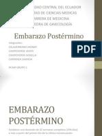 EMBARAZO POSTÉRMINO