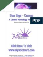Star Sign -- Zodiac Cancer -- A Career Profile E-book