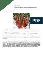 Guidelines Fertilizer Recomendation Chili in Indonesia