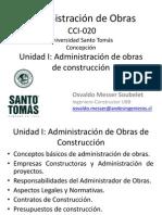 Unidad I - Administración de Obras en Construcción