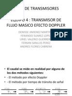 Transmisor de Flujo Masico Efecto Dopler