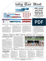The Daily Tar Heel for April 9, 2014