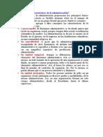4caracteristicas de La Administracion