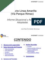 Proyecto Linea Amarilla via Parque Rimac