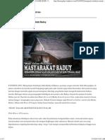 Mengenal Arsitektur Rumah AdatBaduy _ KENALI DAERAH MU, CINTAI NEGERI MU