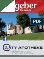 Ratgeber aus Ihrer City-Apotheke – April 2014