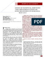 THE EVALUATION OF HOSPITAL SERVICES USING AFTER IMPLEMENTATION OF RESTRUCTURING MEASURES IN ROMANIA,