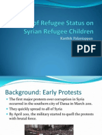 Impact of Refugee Status on Syrian Refugee Children